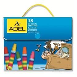 Adel - Adel Çantalı Pastel Boya 18 Renk