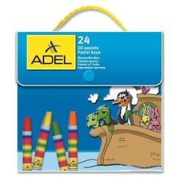 Adel - Adel Çantalı Pastel Boya 24 Renk