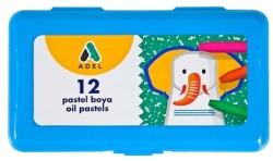 Adel - Adel Pastel Boya 12 Renk Mavi PP Kutu