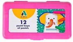 Adel - Adel Pastel Boya 12 Renk Pembe PP Kutu