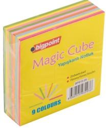 Bigpoint - Bigpoint Yapışkanlı Not Kağıdı Neon Küp 225 Yaprak 9 Renk
