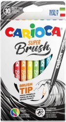 Carioca - Carioca Super Brush Fırça Uçlu Keçeli Boya Kalemi 10'lu