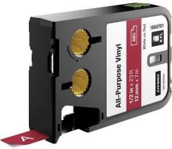 Dymo - Dymo XTL Çok Amaçlı Vinil 12 mmx7 m Kırmızı/Beyaz