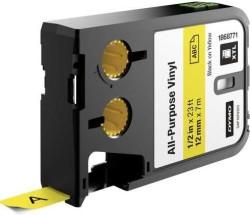 Dymo - Dymo XTL Çok Amaçlı Vinil 12 mmx7 m Sarı/Siyah