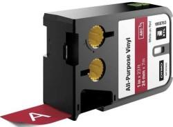 Dymo - Dymo XTL Çok Amaçlı Vinil 24 mmx7 m Kırmızı/Beyaz