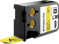 Dymo - Dymo XTL Çok Amaçlı Vinil 24 mmx7 m Sarı/Siyah
