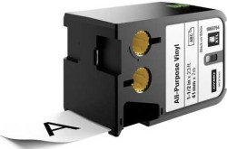 Dymo - Dymo XTL Çok Amaçlı Vinil 41 mmx7 m Beyaz/Siyah