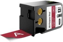 Dymo - Dymo XTL Çok Amaçlı Vinil 41 mmx7 m Kırmızı/Beyaz