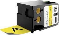 Dymo - Dymo XTL Çok Amaçlı Vinil 54 mmx7 m Sarı/Siyah