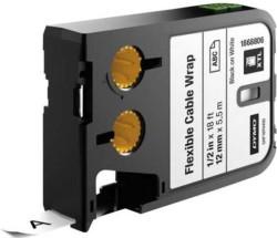 Dymo - Dymo XTL Esnek Naylon Kablo Etiketi 12 mmx5.5 m Beyaz/Siyah