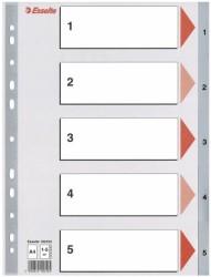 Esselte - Esselte Separatör A4 1-5 Rakam