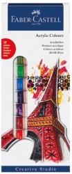 Faber Castell - Faber-Castell Akrilik Boya 12 renk 12 ml tüp