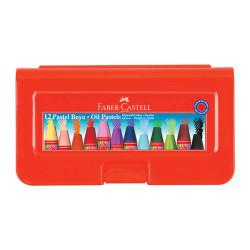 Faber Castell - Faber-Castell Altıgen Pastel Plastik Kutu 12'li