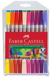 Faber Castell - Faber-Castell Çift Taraflı Keçeli Kalem 20 Renk