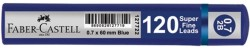 Faber Castell - Faber-Castell Grip Min 0.7 2B 60mm 120'li Mavi Tüp