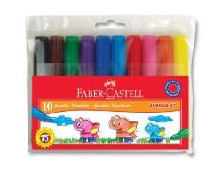 Faber Castell - Faber-Castell Jumbo 47 Markör 10 Renk