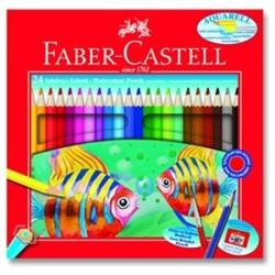 Faber Castell - Faber-Castell Karton Kutu Aquarel Boya Kalemi 24 Renk