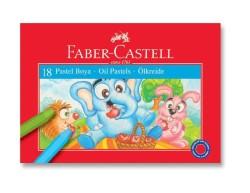 Faber Castell - Faber-Castell Karton Kutu Pastel Boya 18 Renk
