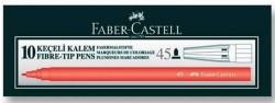 Faber Castell - Faber-Castell Keçeli Kalem Kırmızı - 10 lu pk.