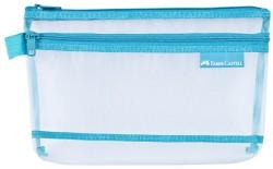 Faber Castell - Faber-Castell Mesh Dosya A4 Çift Cep Mavi