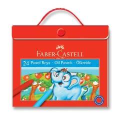 Faber Castell - Faber-Castell Plastik Çantalı Tutuculu Pastel Boya 24 Renk