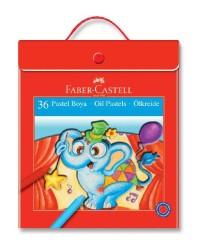 Faber Castell - Faber-Castell Plastik Çantalı Tutuculu Pastel Boya 36 Renk