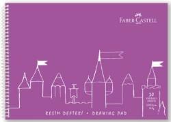 Faber Castell - Faber-Castell PP Kapak Resim Defteri 25x35 cm 30 Yaprak - Mor