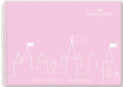 Faber Castell - Faber-Castell PP Kapak Resim Defteri 25x35 cm 30 Yaprak - Pembe