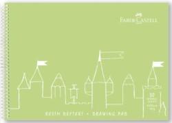 Faber Castell - Faber-Castell PP Kapak Resim Defteri 25x35 cm 30 Yaprak - Yeşil