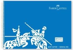 Faber Castell - Faber-Castell PP Kapak Resim Defteri 35x50 cm 30 Yaprak - Mavi