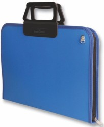 Faber Castell - Faber-Castell Proje Çantası 28x38cm Mavi