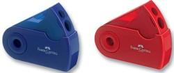 Faber Castell - Faber-Castell Sleeve Kırmızı-Mavi Kalemtraş