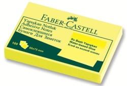Faber Castell - Faber-Castell Yapışkan Notluk 50x75mm Sarı