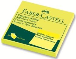 Faber Castell - Faber-Castell Yapışkan Notluk 75x75mm Fosforlu Sarı