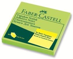 Faber Castell - Faber-Castell Yapışkan Notluk 75x75mm Fosforlu Yeşil
