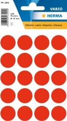 Herma - Herma Vario Yuvarlak Etiket 19mm Fosforlu Kırmızı