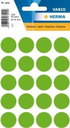 Herma - Herma Vario Yuvarlak Etiket 19mm Fosforlu Yeşil