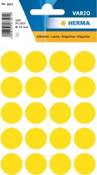 Herma - Herma Vario Yuvarlak Etiket 19mm Sarı