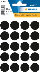Herma - Herma Vario Yuvarlak Etiket 19mm Siyah