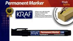 Kraf - Kraf 220 Permanent Markör Yuvarlak Uç Siyah