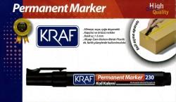 Kraf - Kraf 230 Permanent Markör Kesik Uç Siyah