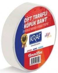 Kraf - Kraf Çift Taraflı Köpük Bant 15mmx5mt