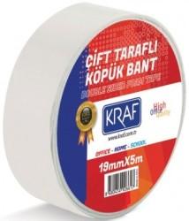 Kraf - Kraf Çift Taraflı Köpük Bant 19mmx5mt