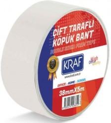 Kraf - Kraf Çift Taraflı Köpük Bant 38mmx5mt