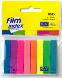 Kraf - Kraf Film İndex 8x45mm 8 Renk x 25 Sayfa