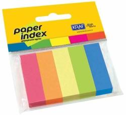 Kraf - Kraf Kağıt İndex 15x50mm 5 Renk x 100 Sayfa