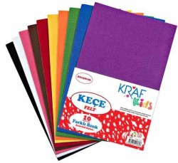 Kraf - Kraf Kids Keçe 20x30 Karışık 10 lu
