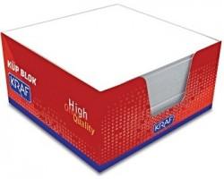 Kraf - Kraf Küp Blok Beyaz 9x9 cm.