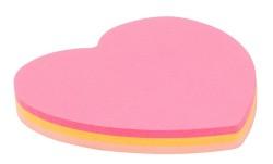 Kraf - Kraf Yapışkanlı Not Kağıdı 70x70mm Kalp