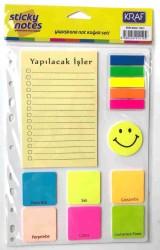 Kraf - Kraf Yapışkanlı Not Kağıdı Seti